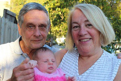 Tom, his Wife Lee and Granddaughter Edy
